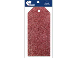 PAPER ACCENTS ADPCTAG-AST 5107 CRAFT TAGS ASTD SIZE 10PC GLITZ CRIMSON ADPCTAG-AST.5107