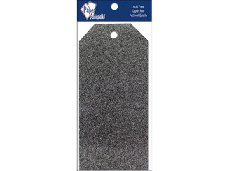 PAPER ACCENTS ADPCTAG-MED 5118 CRAFT TAGS 2 5X5 25 10PC GLITZ MIDNIGHT ADPCTAG-MED.5118