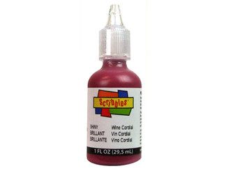 11314 SCRIBBLES FABRIC PAINT 1OZ SHINY WINE CORDIAL