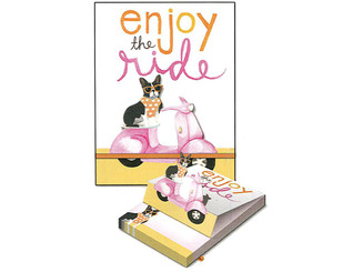 MOLLY  REX 35418 MOLLY REX POP UP POCKET NOTE PAD VESPA FRENCHIE