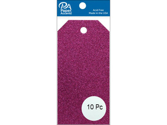 PAPER ACCENTS ADPCTAG-SM G03 CRAFT TAGS 2 125X4 25 10PC GLITTER ROSE ADPCTAG-SM.G03