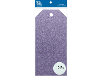 PAPER ACCENTS ADPCTAG-MED G29 CRAFT TAGS 2 5X5 25 10PC GLITTER LAVENDER ADPCTAG-MED.G29