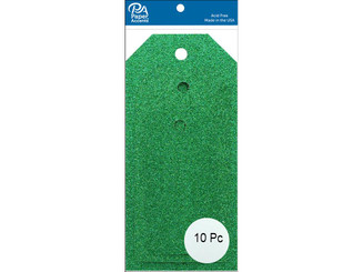 PAPER ACCENTS ADPCTAG-AST G06 CRAFT TAGS ASTD SIZE 10PC GLITTER GREEN ADPCTAG-AST.G06