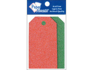 PAPER ACCENTS ADPCTAG-XSM 1059 CRAFT TAGS 1 625X3 25 10PC GLITZ CHRISTMAS ADPCTAG-XSM.1059