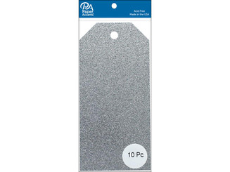 PAPER ACCENTS ADPCTAG-MED G12 CRAFT TAGS 2 5X5 25 10PC GLITTER SILVER ADPCTAG-MED.G12