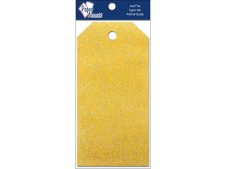 PAPER ACCENTS ADPCTAG-SM 5110 CRAFT TAGS 2 125X4 25 10PC GLITZ DAFFODIL ADPCTAG-SM.5110