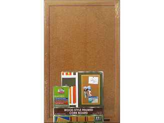 BOARD DUDES THE CXM88 BRD DUDES CORK BULLETIN BOARD 11X17 WOOD STYLE FRM