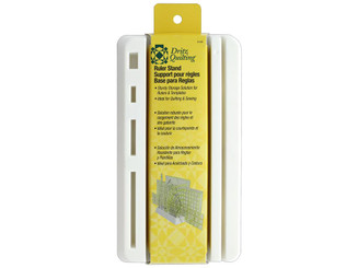 3143 DRITZ QUILTING RULER STAND 10 SLOTS WHITE