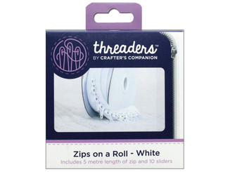 CRAFTER S COMPANION TH-1036 CC THREADERS ZIPS ON A ROLL WHITE