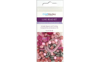 BD520A MULTICRAFT BEAD KIT LUXE 1 05OZ PINK