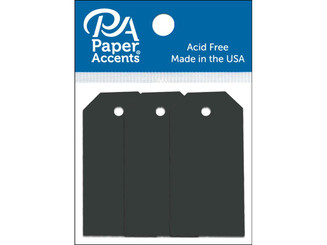 PAPER ACCENTS ADPCTAG-TINY 127 CRAFT TAGS 0 875X1 75 20PC BLACK ADPCTAG-TINY.127