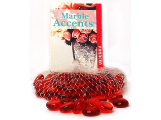 70048 PANACEA DECORATIVE GLASS GEMS 10OZ RED