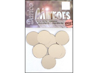 1613-55 DARICE MIRROR BIG VALUE ROUND 1 25PC