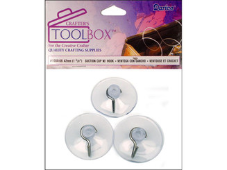 1050-06 DARICE SUCTION CUPS W HOOKS 42MM 3PC
