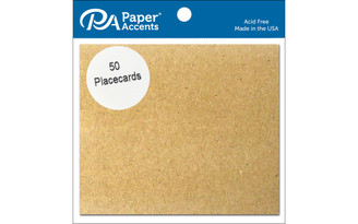 ADPPC-50 357 PLACECARDS 3X3 5 BROWN BAG 50PC
