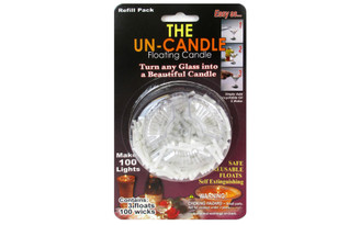 FWICK-4 PEPPERELL WICK FLOATING CANDLE THE UN CANDLE