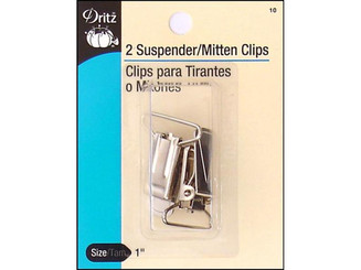 10 DRITZ SUSPENDER CLIPS NICKEL 2PC