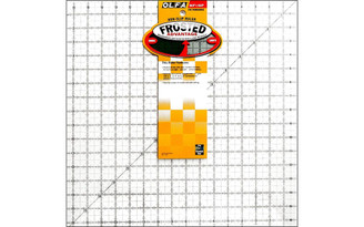 1071800 OLFA ACRYLIC RULER FROSTED 16 5X16 5 SQUARE