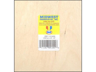 5305 MIDWEST CRAFT PLYWOOD 1 8 X 12 X 12