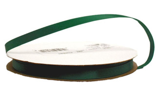 1012 1 587 OFFRAY RIBBON SINGLEFACE SATIN 1 4 FOREST GREEN