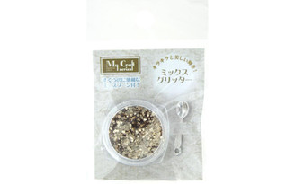RS-167 RESINATE GLITTER MIX 2GM GOLD
