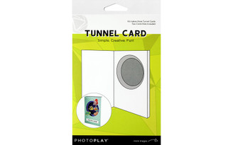 PHOTOPLAY PAPER PPP9461 PHOTO PLAY TUNNEL CARD KIT WITH CIRCLE DIE