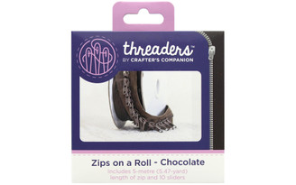 CRAFTER S COMPANION TH-1042 CC THREADERS ZIPS ON A ROLL CHOCOLATE