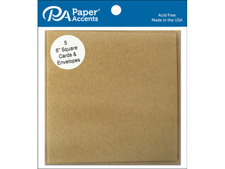 ADP0606-5 357 CARD ENV 6X6 5PC BROWN BAG