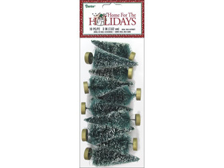 16454 DARICE HOLIDAY SISAL CHRISTMAS TREE 3 FROST 10PC