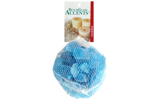 70151 PANACEA DECORATIVE GLASS BEACH 16OZ ICE BLUE