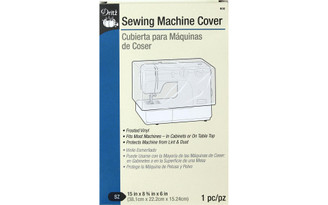 900 DRITZ SEWING MACHINE COVER 15X9X6 CLEAR