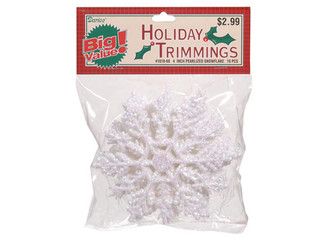 1619-60 DARICE HOLIDAY SNOWFLAKE 4 PEARLIZED 10PC