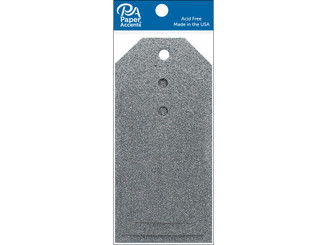 ADPCTAG-AST G12 CRAFT TAGS ASTD SIZE 10PC GLITTER SILVER