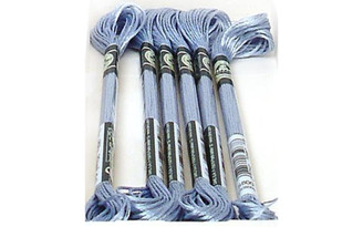 1008F S800 DMC SATIN EMBROIDERY FLOSS SKY BLUE