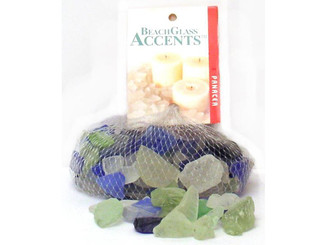 70195 PANACEA DECORATIVE GLASS BEACH 16OZ GREEN ICE BLUE