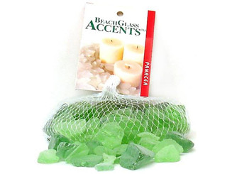 70194 PANACEA DECORATIVE GLASS BEACH 16OZ PALE GREEN