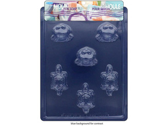 10111 LIFE PARTY MOLD FOR SOAP FROG TURTLE