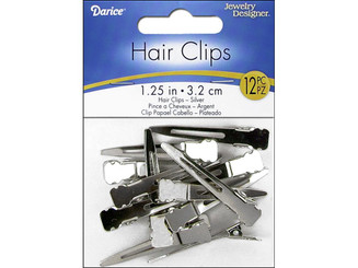 2002-84 DARICE HAIR CLIP 1 25 NICKEL 12PC