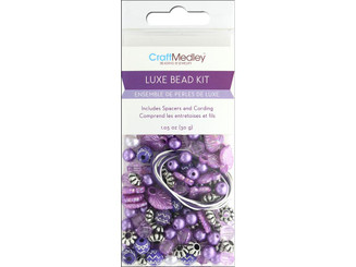 BD520D MULTICRAFT BEAD KIT LUXE 1 05OZ PURPLE