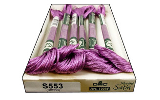 1008F S553 DMC SATIN EMBROIDERY FLOSS CLEMATIS