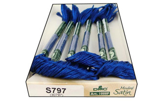 1008F S797 DMC SATIN EMBROIDERY FLOSS ROYAL BLUE