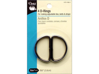 117-112-1 DRITZ D RINGS 1 1 2 BLACK 4PC