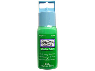 16008N PLAID GALLERY GLASS WINDOW COLOR 2OZ KELLY GREEN