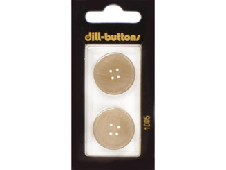 1005 DILL BUTTONS 25MM 2PC 2 HOLE YELLOW