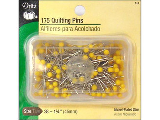 131 DRITZ PINS QUILTING SIZE 28 175PC YELLOW HEAD