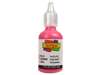 11324 SCRIBBLES FABRIC PAINT 1OZ CRYSTAL VERY BERRY RED