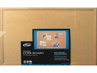 BOARD DUDES THE CXM87 BRD DUDES CORK BULLETIN BOARD 17X23 WOOD STYLE FRM