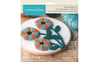 72-70028 DIMENSIONS PUNCH NEEDLE KIT 8 MODERN FLORAL
