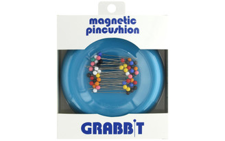 BLUE FEATHER PRODUCTS INC  GB-TEAL BLUE FEATHER GRABBIT MAGNETIC PINCUSHION TEAL