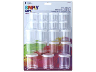 1021078B LOEW CORNELL SIMPLY ART STORAGE CUPS 19PC